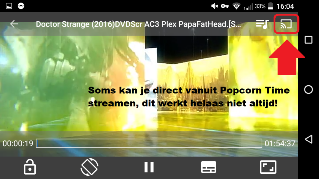 stream popcorn time naar Chromecast